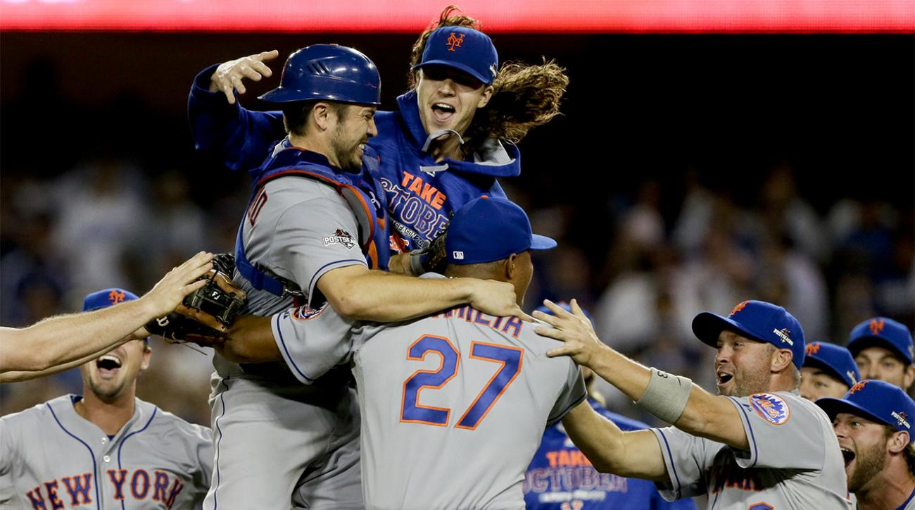 Daniel Murphy's clutch hitting sends Mets past Dodgers and into NLCS IMAGE