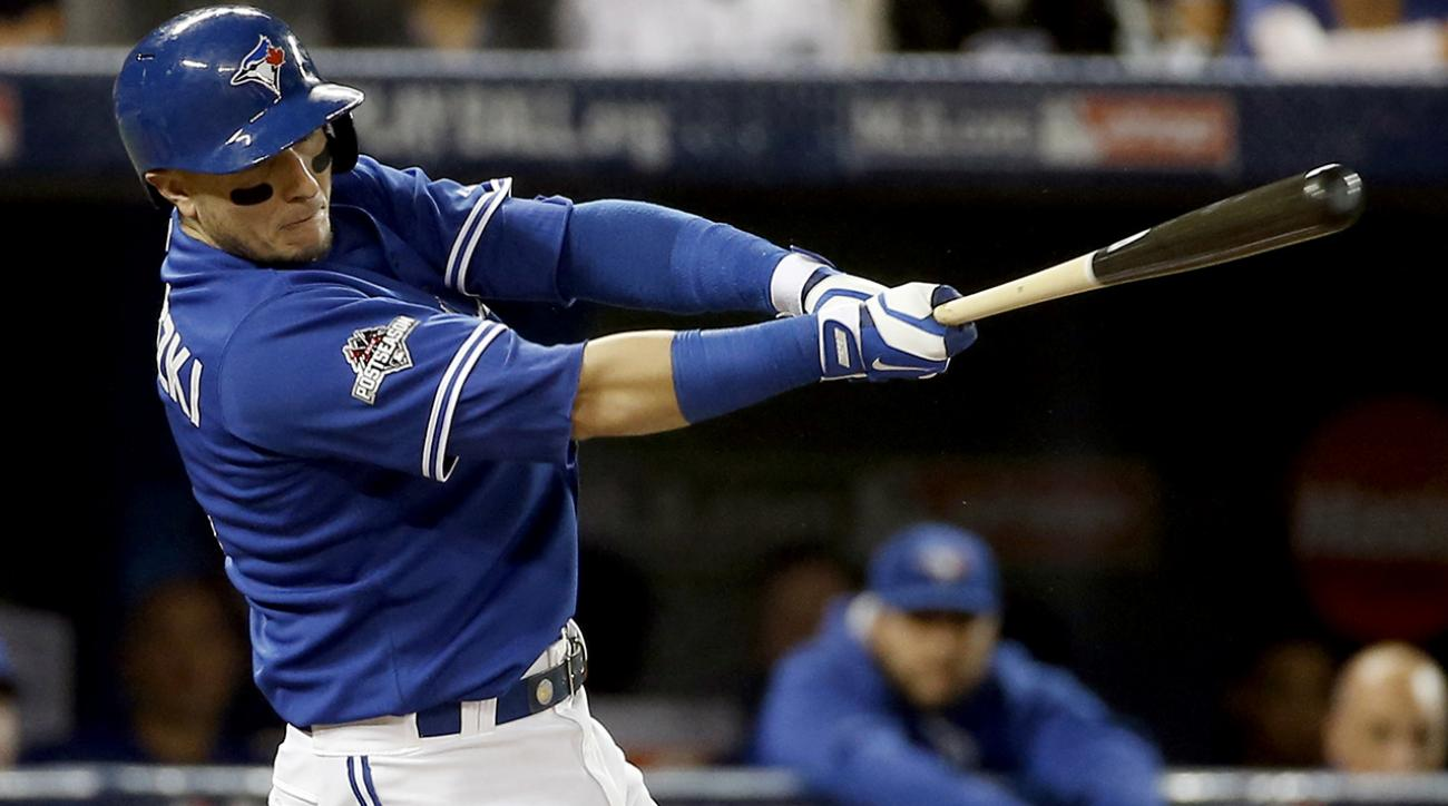 Back home, Blue Jays break out to beat Royals 11-8 in Game 3 of the ALCS IMAGE