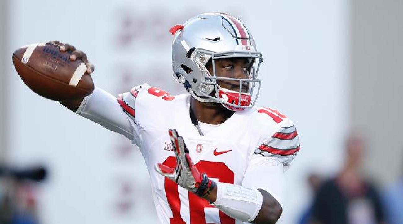 Ohio State QB J.T. Barrett defends arm strength compared to Cardale Jones