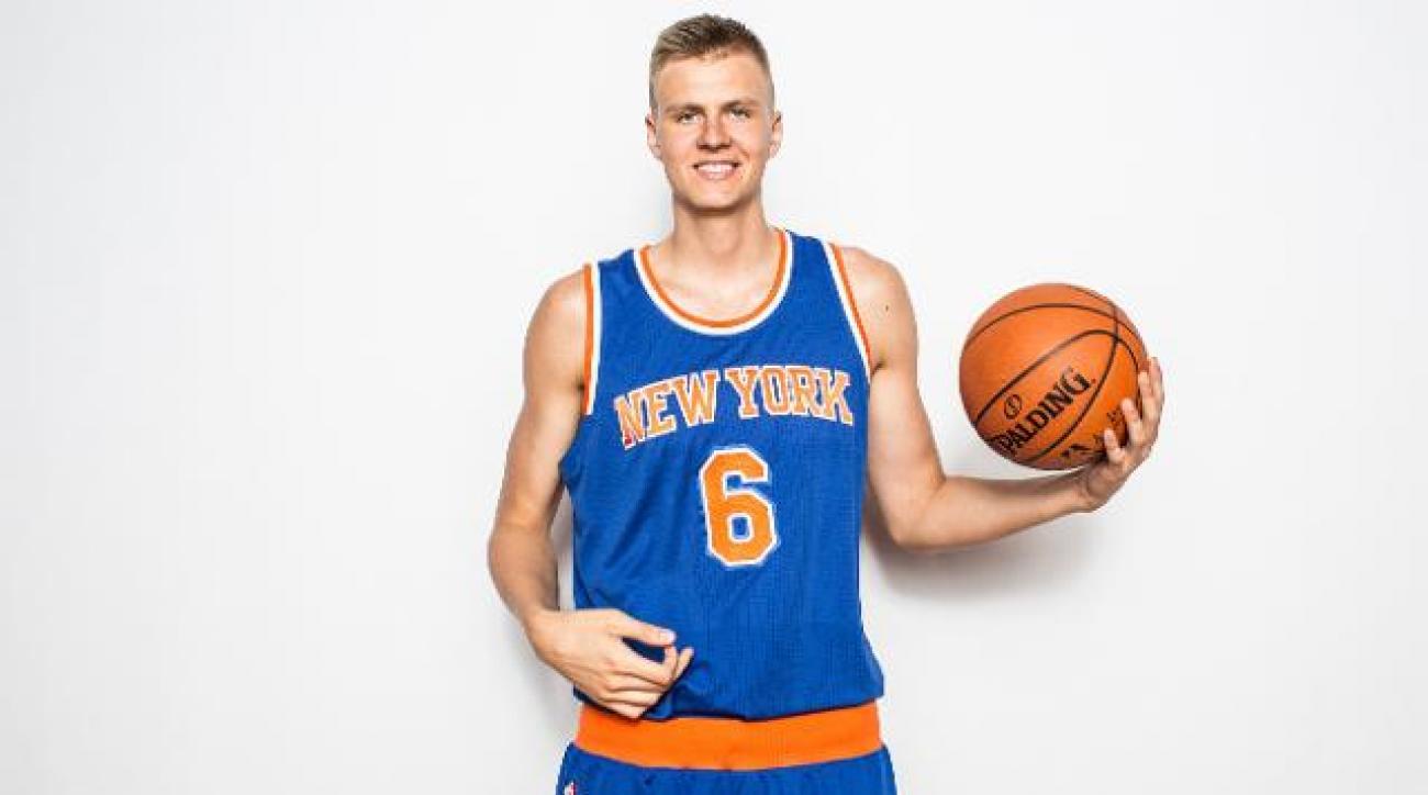 Knicks rookie Kristaps Porzingis says girls like his height