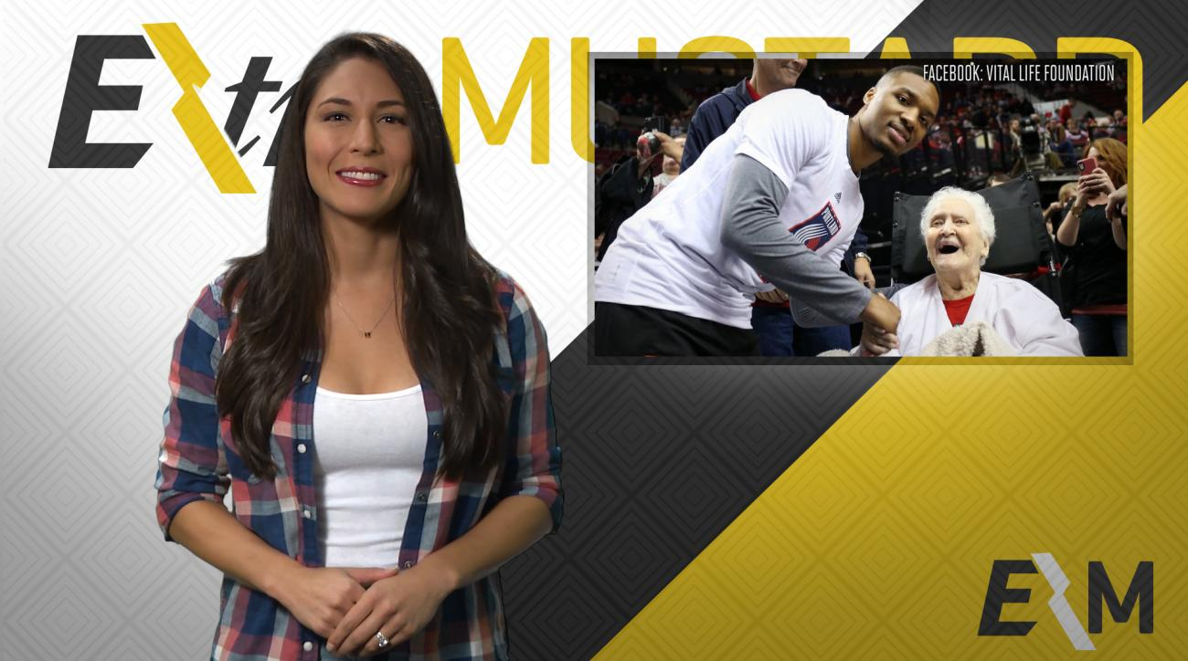 Mustard Minute: 92-year old Trail Blazers fan lives dream, meets Damian Lillard IMG
