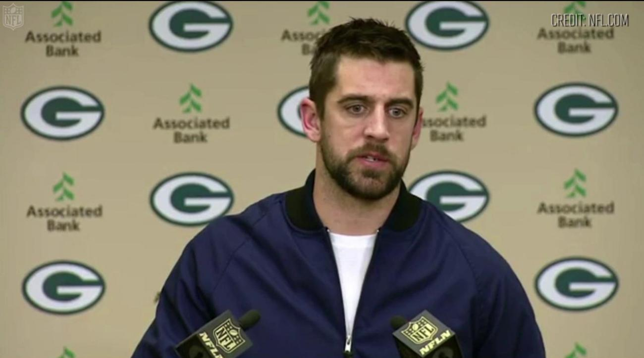 Aaron Rodgers critical of fan during moment of silence IMAGE