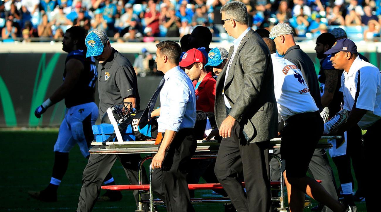 Jacksonville Jaguars WR Allen Hurns taken to hospital with concussion IMAGE