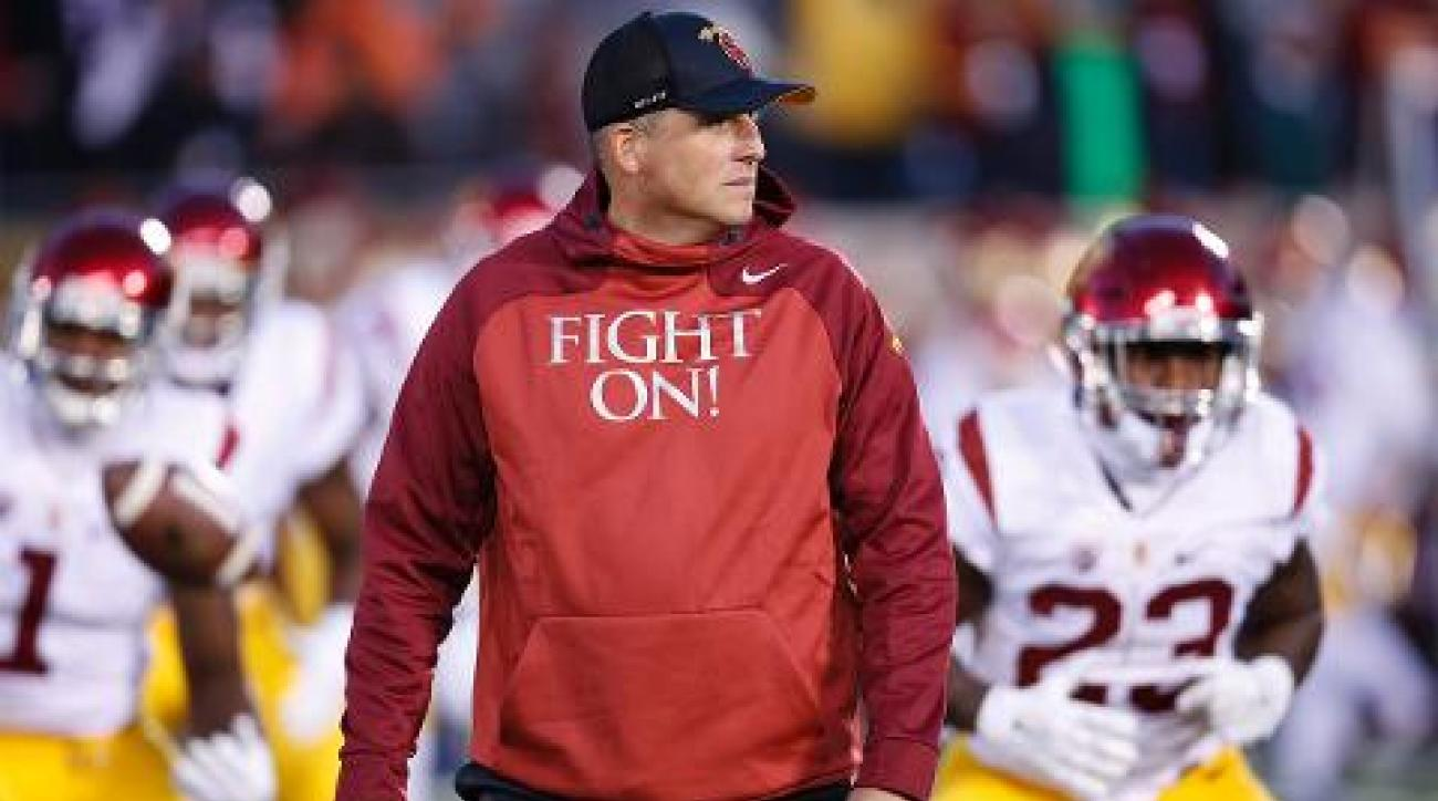 USC names Clay Helton permanent head coach