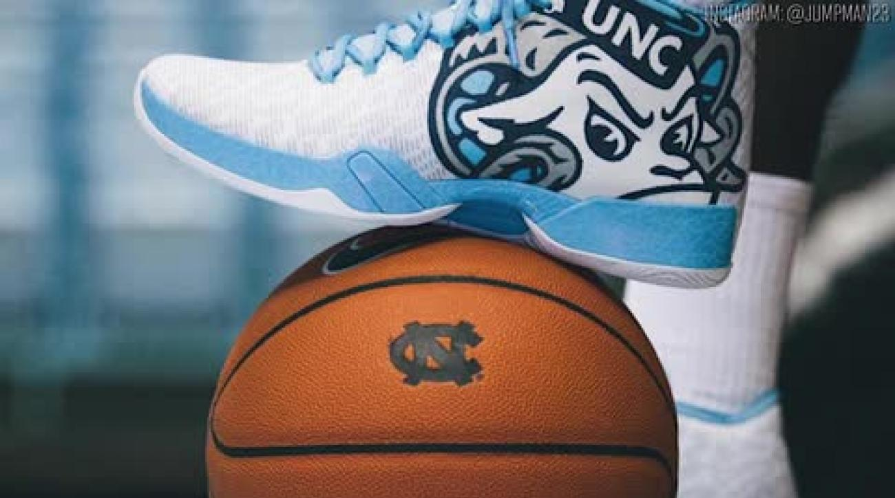 North Carolina unveils new Air Jordan shoes vs. Maryland