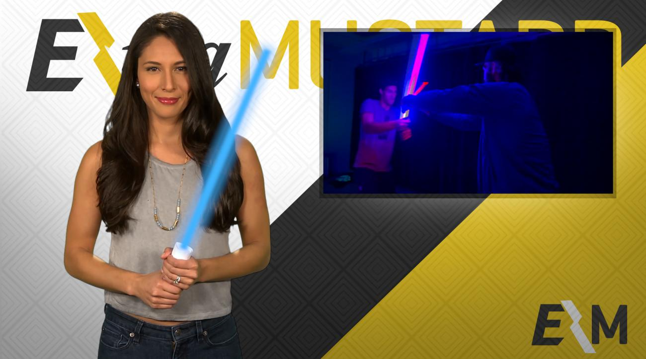 Mustard Minute: Brook and Robin Lopez battle with lightsabers IMG