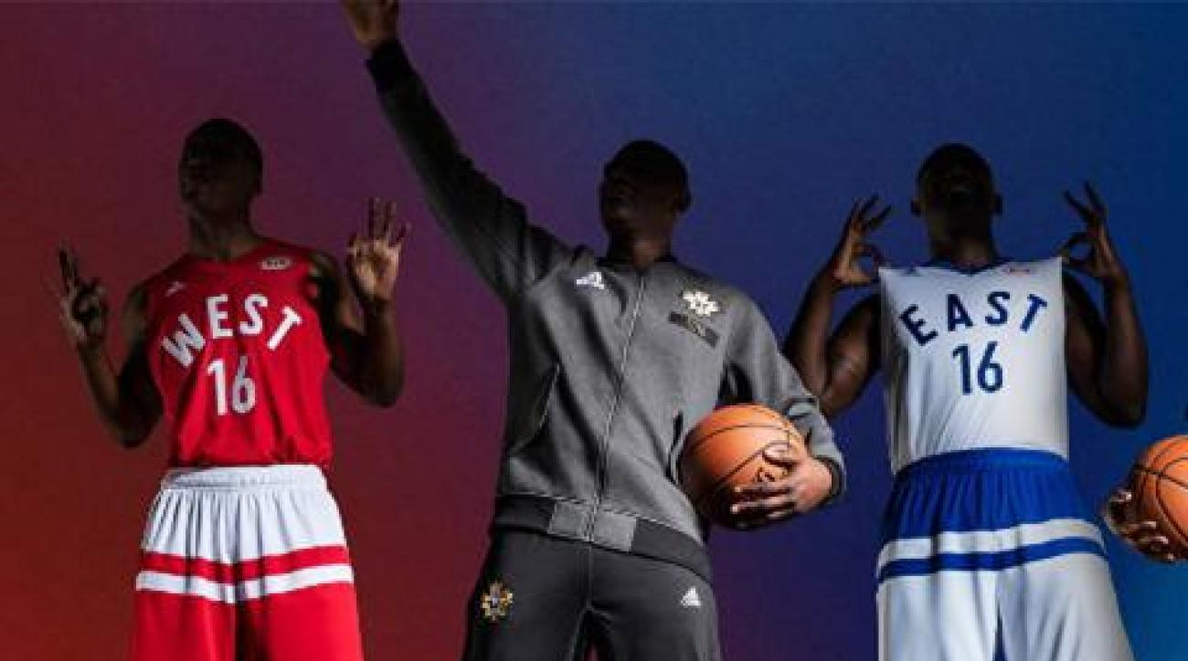 NBA All-Star uniforms feature distinct Toronto feel with maple leaf in tow IMAGE