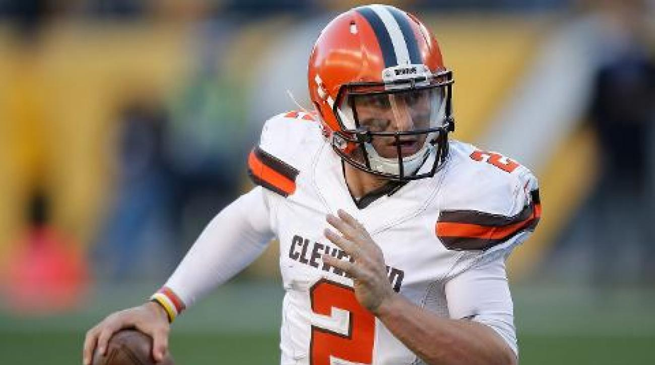 Browns QB Johnny Manziel back in the starting line up