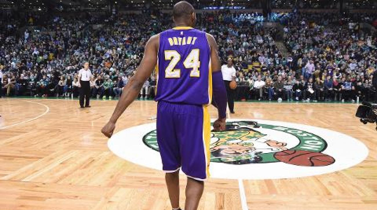 Kobe Bryant introduced in Boston for final time