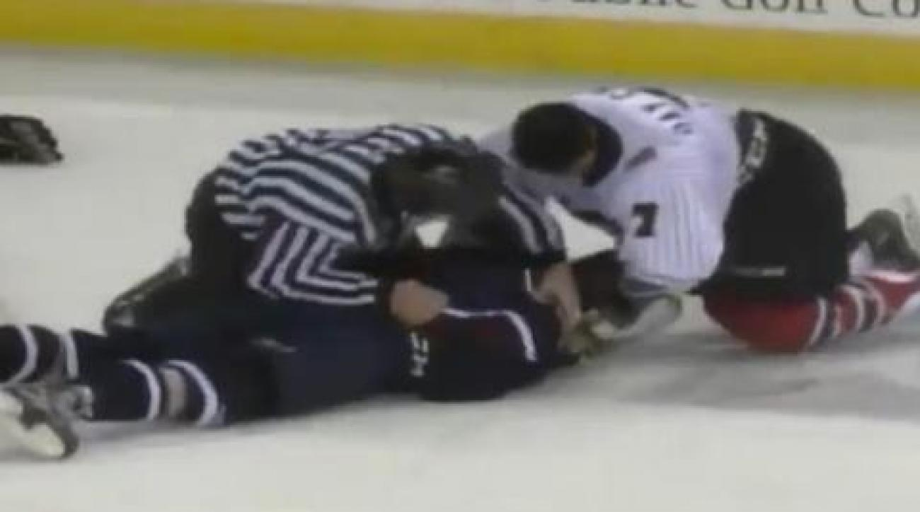 Minor league hockey game ends with massive brawl