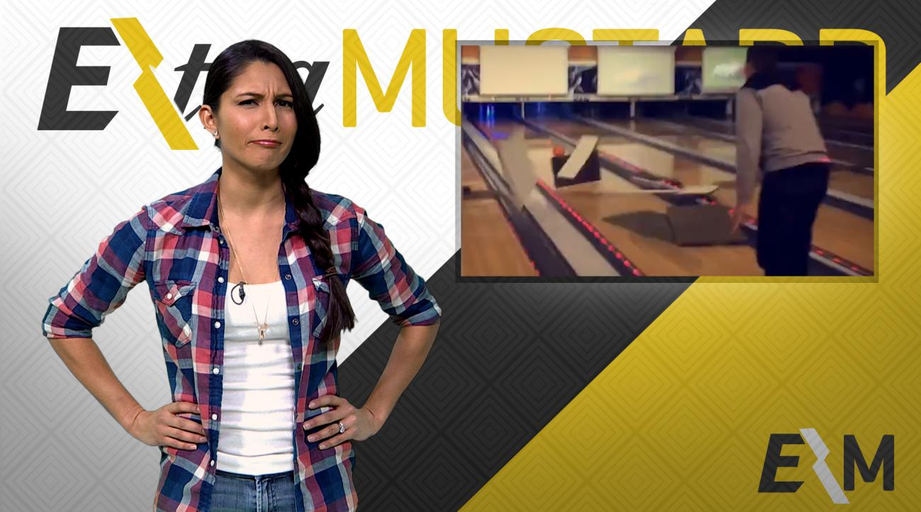 Mustard Minute: Guy destroys bowling alley in single throw IMG