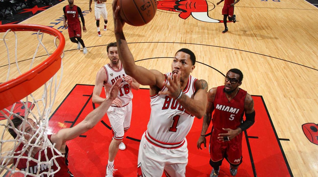 Bulls' Derrick Rose suffers multiple injuries vs. Heat