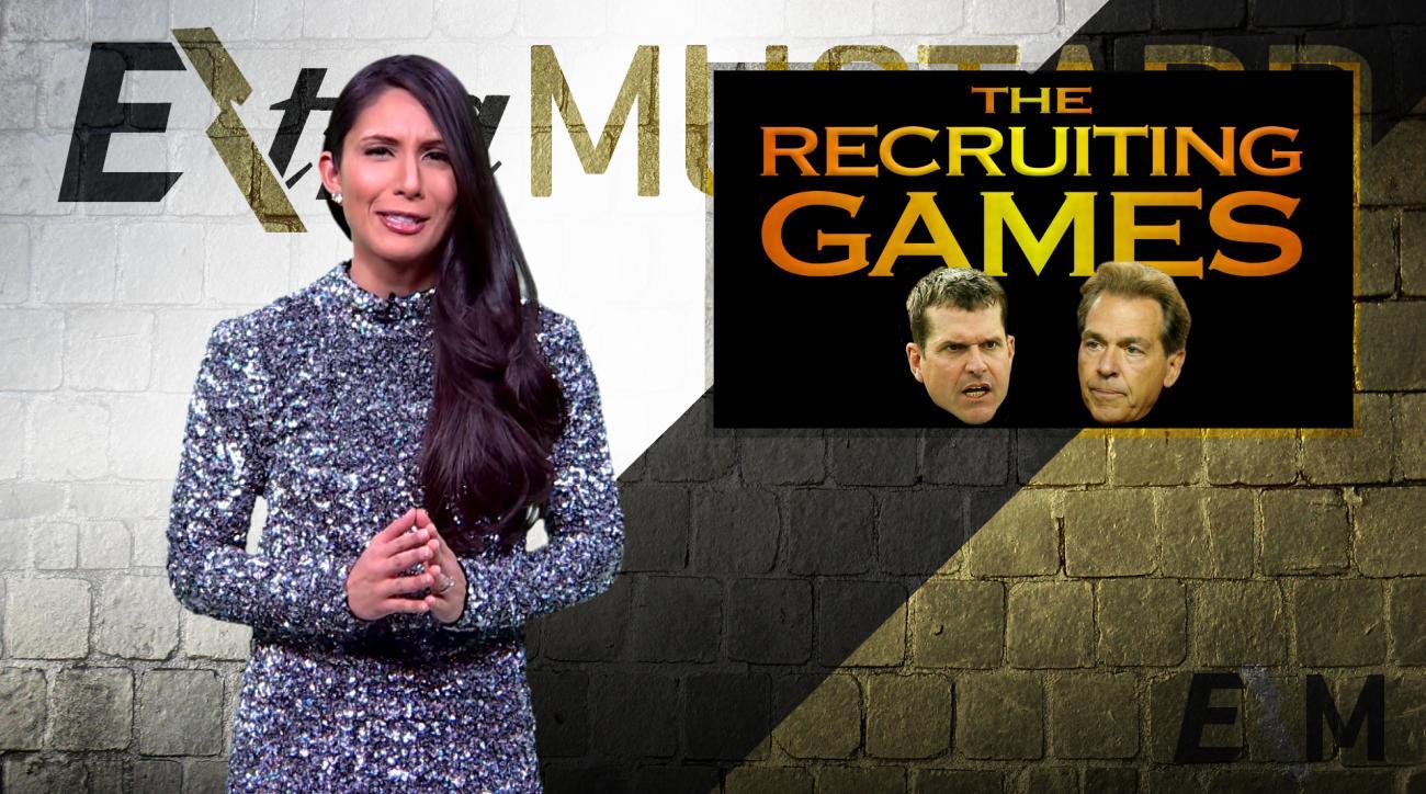 Mustard Minute: Jim Harbaugh vs. Nick Saban Recruiting Games IMG