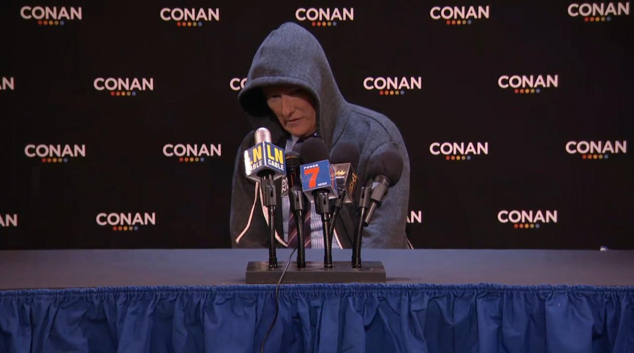 Watch: Conan O'Brien makes fun of Cam Newton's press conference