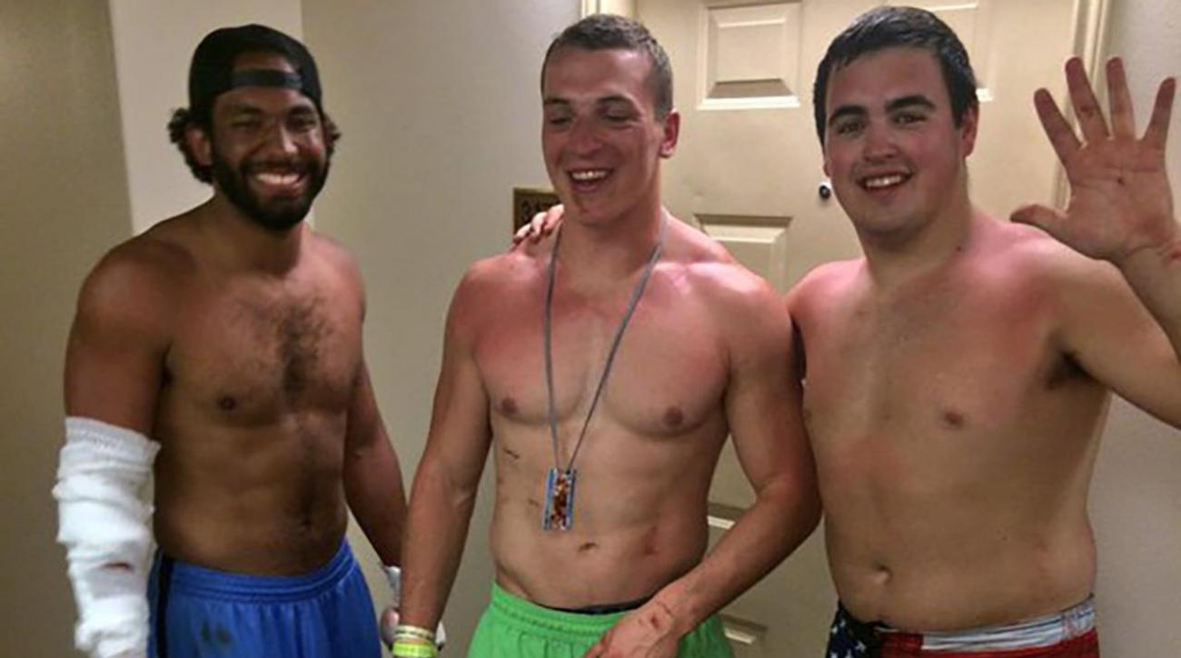 Iowa State football players save woman from sinking car