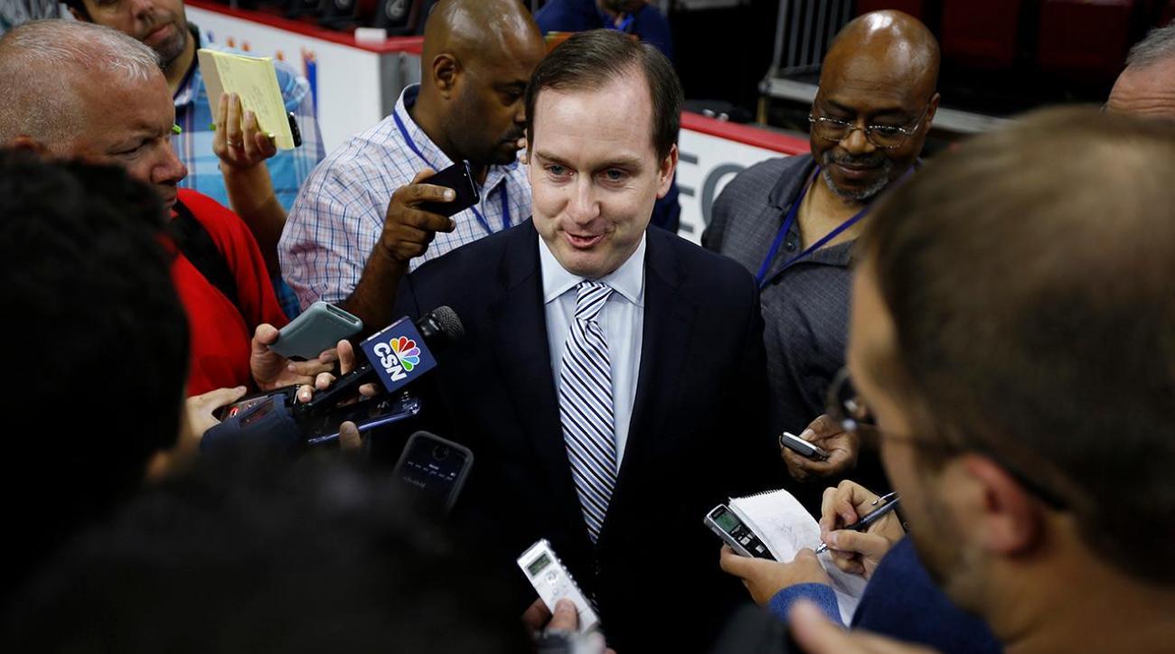 76ers GM, president Sam Hinkie steps down IMAGE