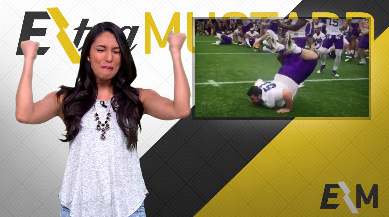 Mustard Minute: LSU offensive lineman dances like a pro, does the Worm after practice IMG