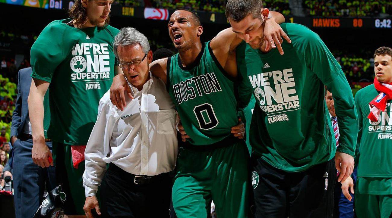 Celtics' Avery Bradley likely out for rest of series vs. Hawks