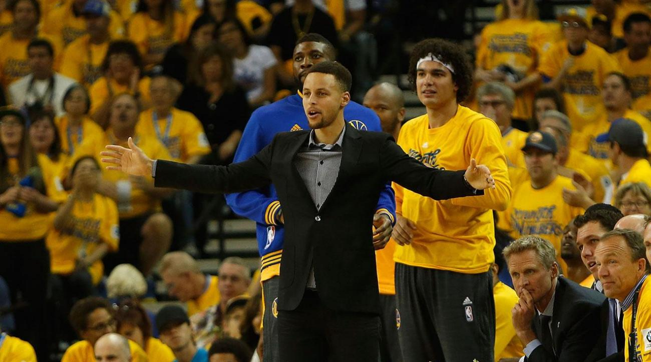 Klay Thompson shines in game 2 with Steph Curry on bench