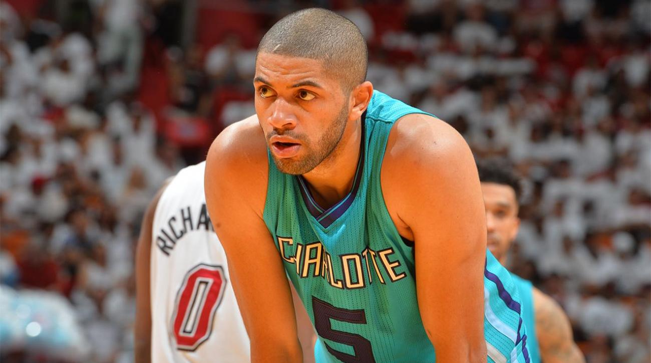 Report: Nicolas Batum expected to miss rest of first round vs. Heat IMAGE