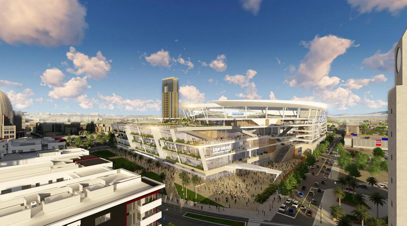 Chargers release images of proposed San Diego stadium