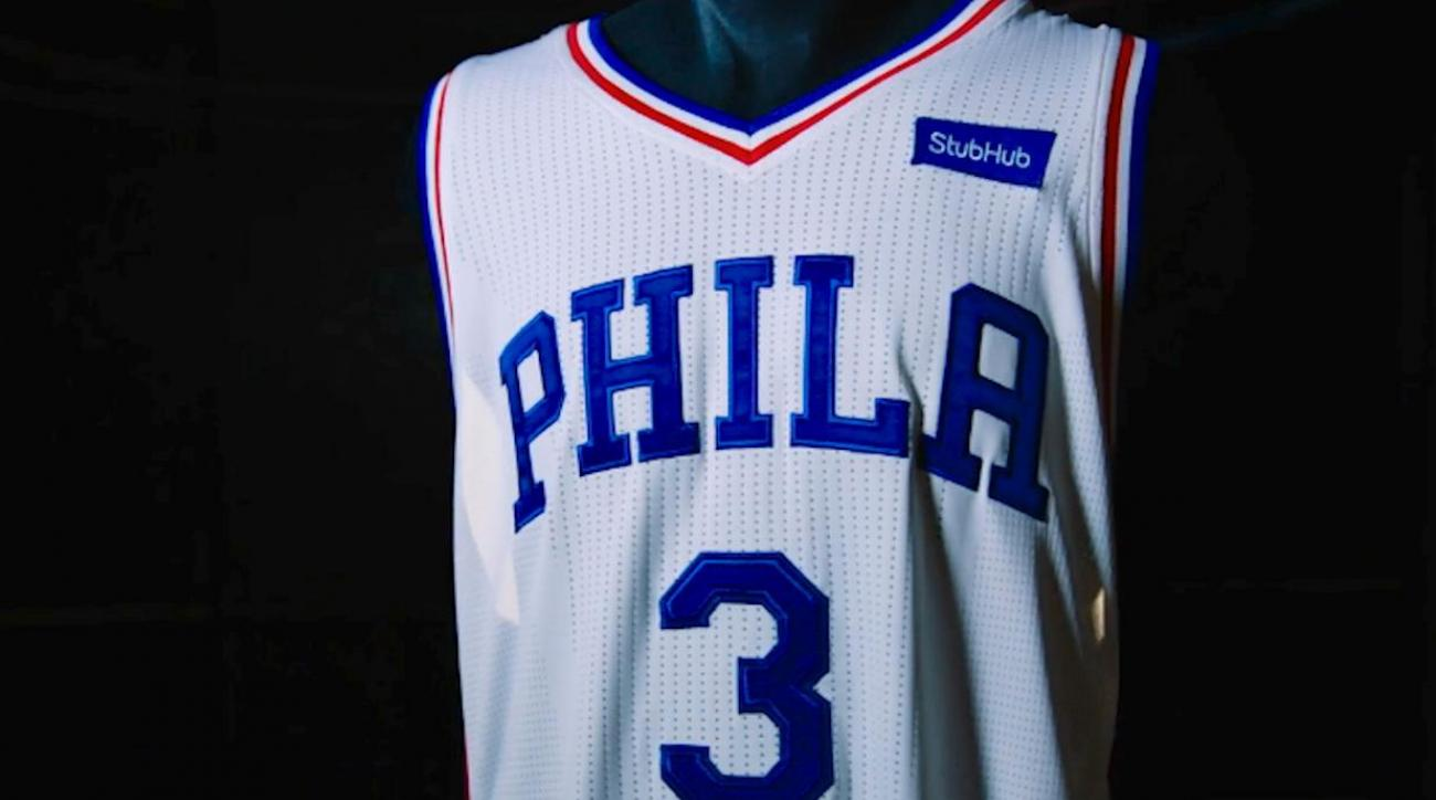 76ers sell first NBA jersey ad to StubHub