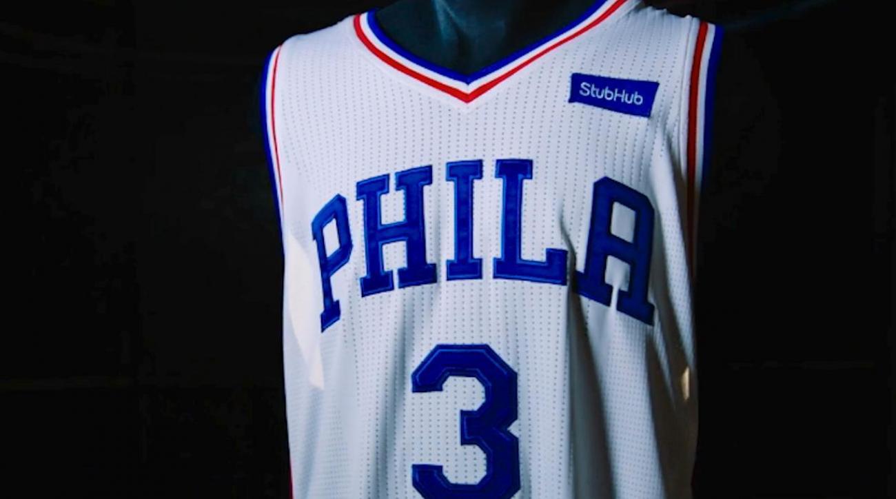 76ers sell first NBA jersey ad to StubHub