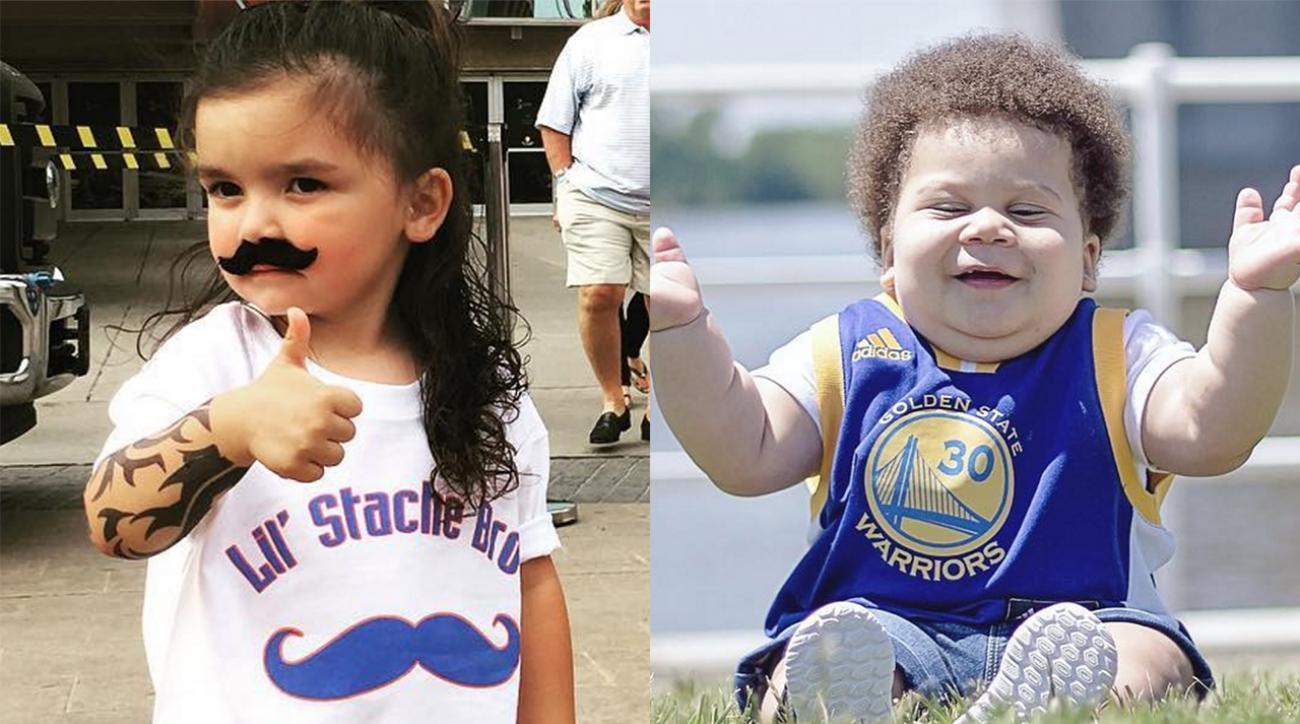 Mustard Minute: Who will win 'Thunder vs Warriors - Child Edition': Little Steven Adams or Stuff Curry? IMG