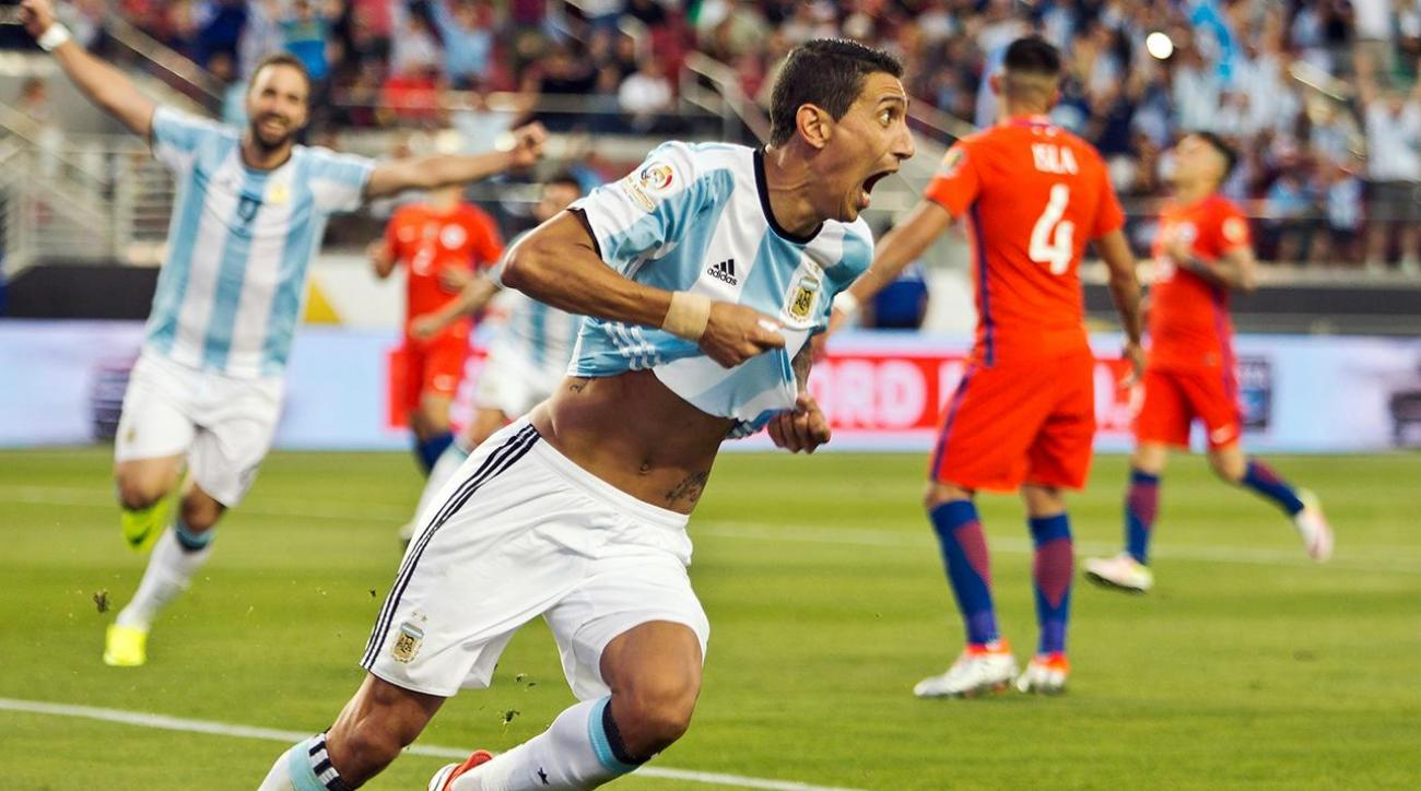 Even without star Lionel Messi, Argentina defeats Chile in Copa opener IMAGE