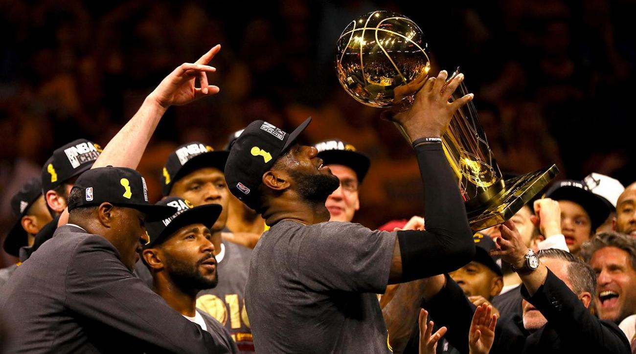 "LeBron, Cavaliers ""coming home"" NBA Champions IMG"