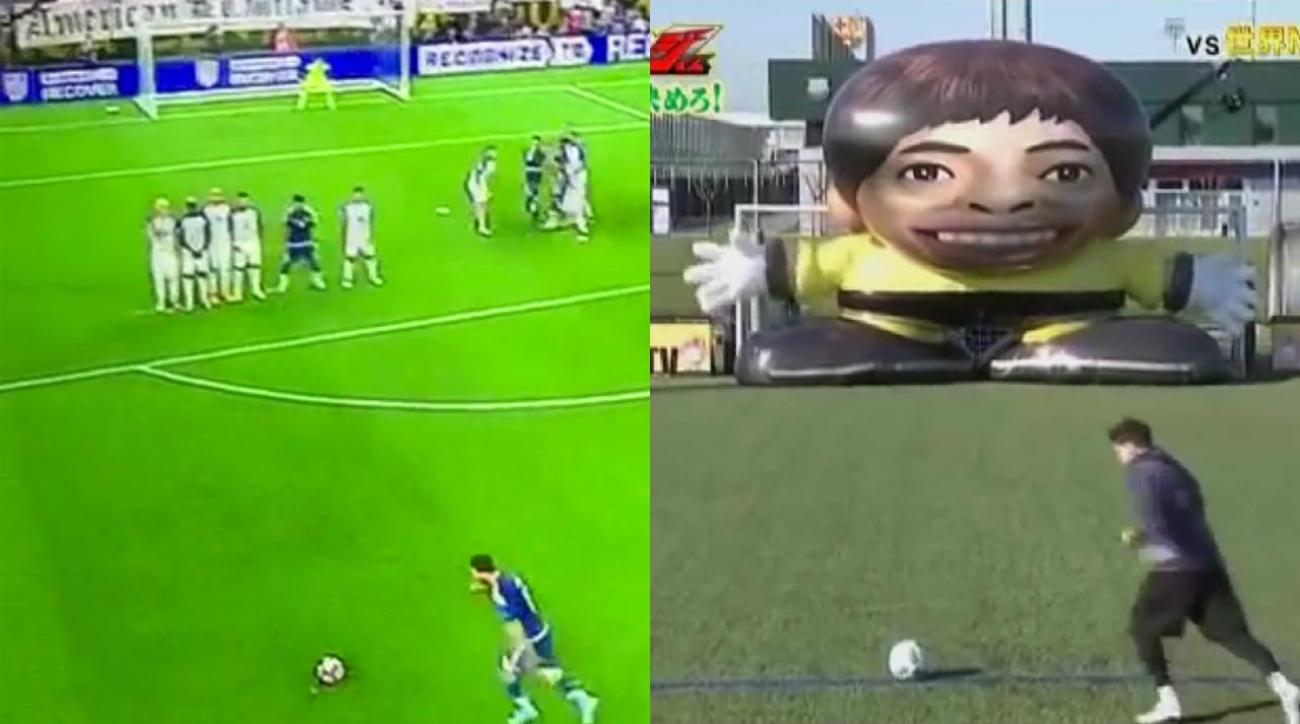 Mustard Minute: Did Lionel Messi perfect his free kick goal on a Japanese game show? IMG