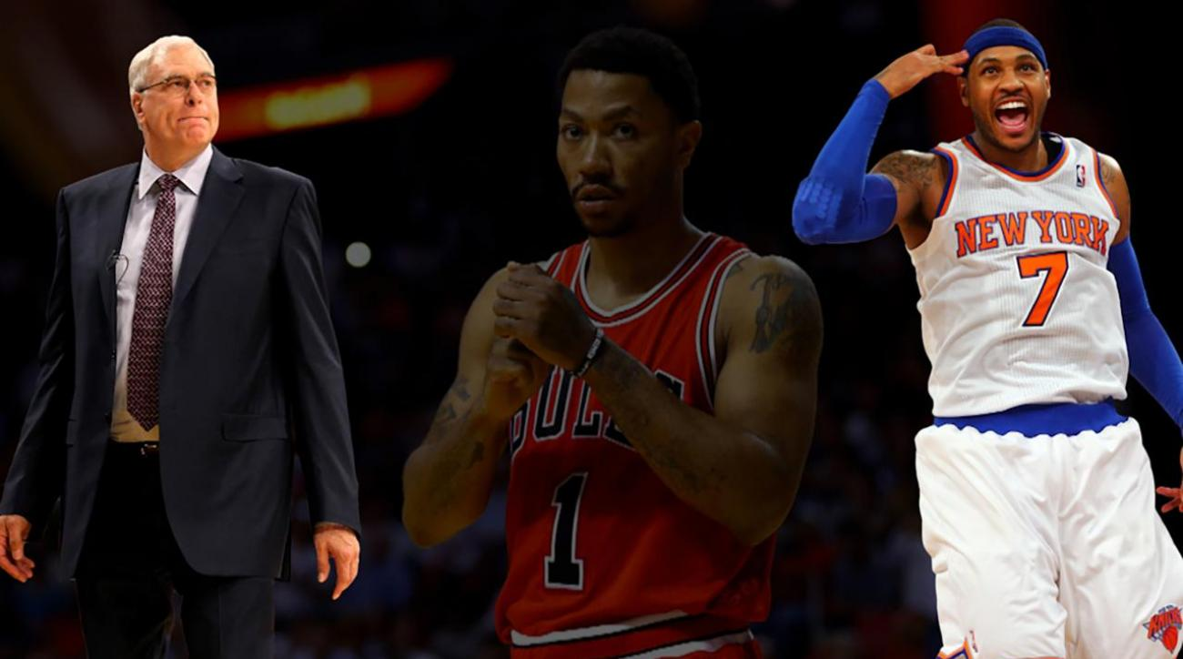 Phil Jackson: Derrick Rose trade 'reinvigorating' for Carmelo Anthony