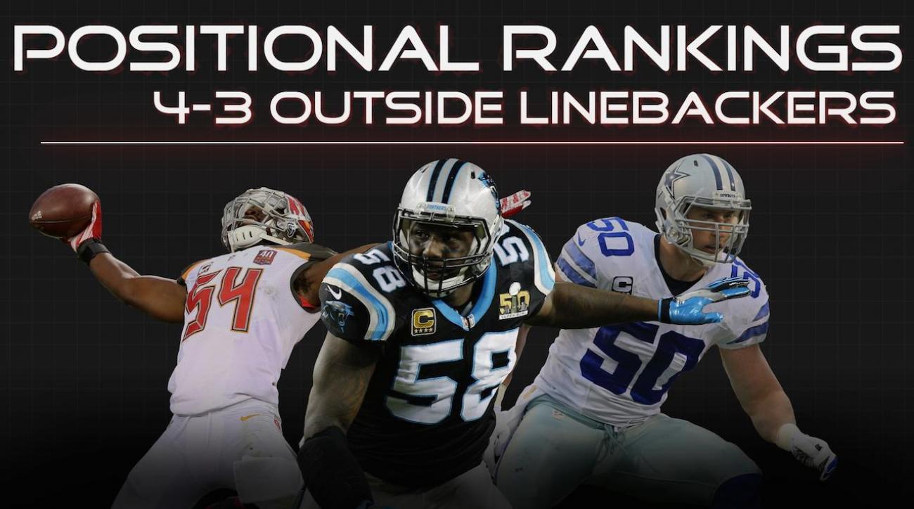 Positional Rankings: 4-3 outside linebackers