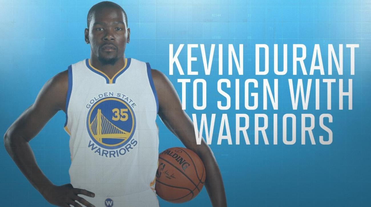 Kevin Durant agrees to two-year deal with Warriors