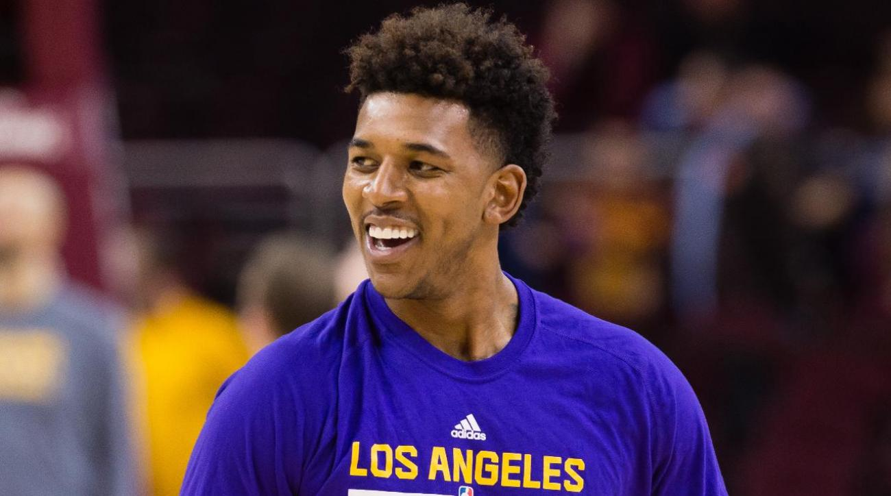Nick Young narrowly avoids firework accident