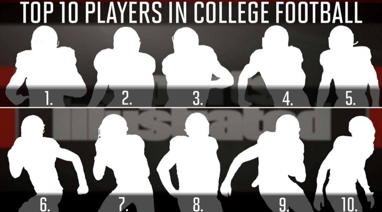Who are the top 10 players in college football?