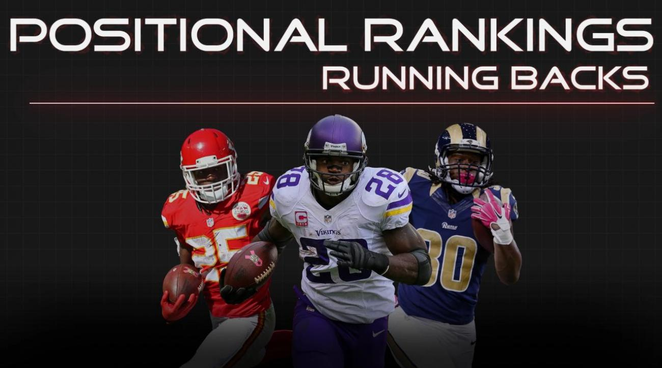 Positional Rankings: Running backs