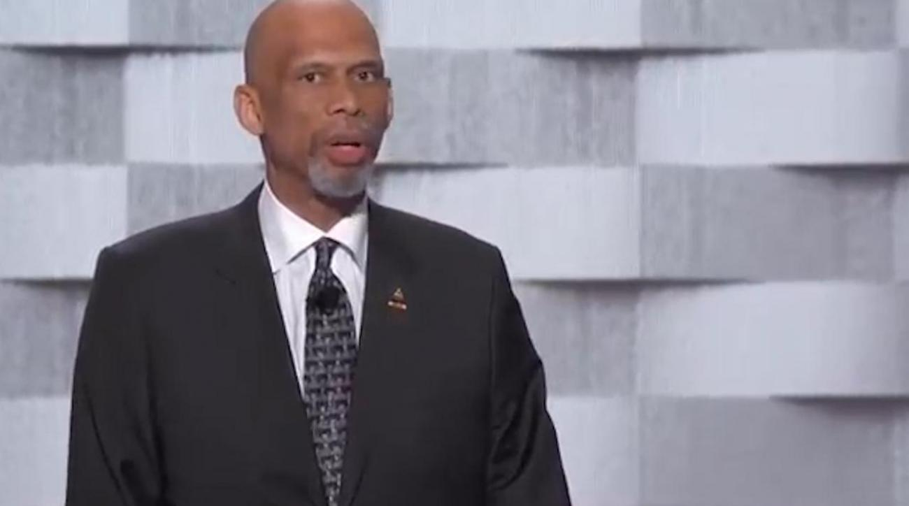 Kareem Abdul-Jabbar speaks at DNC, criticizes Donald Trump IMAGE