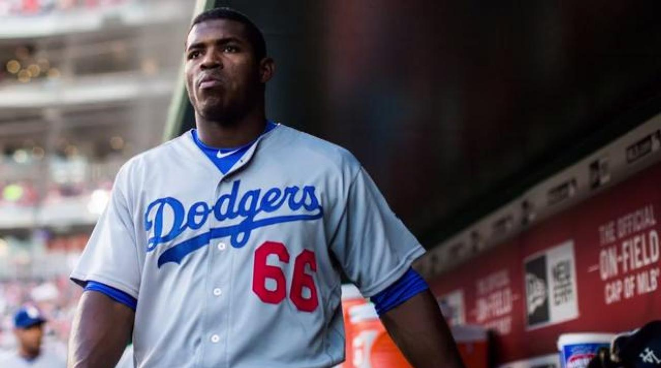 Report: Yasiel Puig not traveling with team after Dodgers fail to trade him