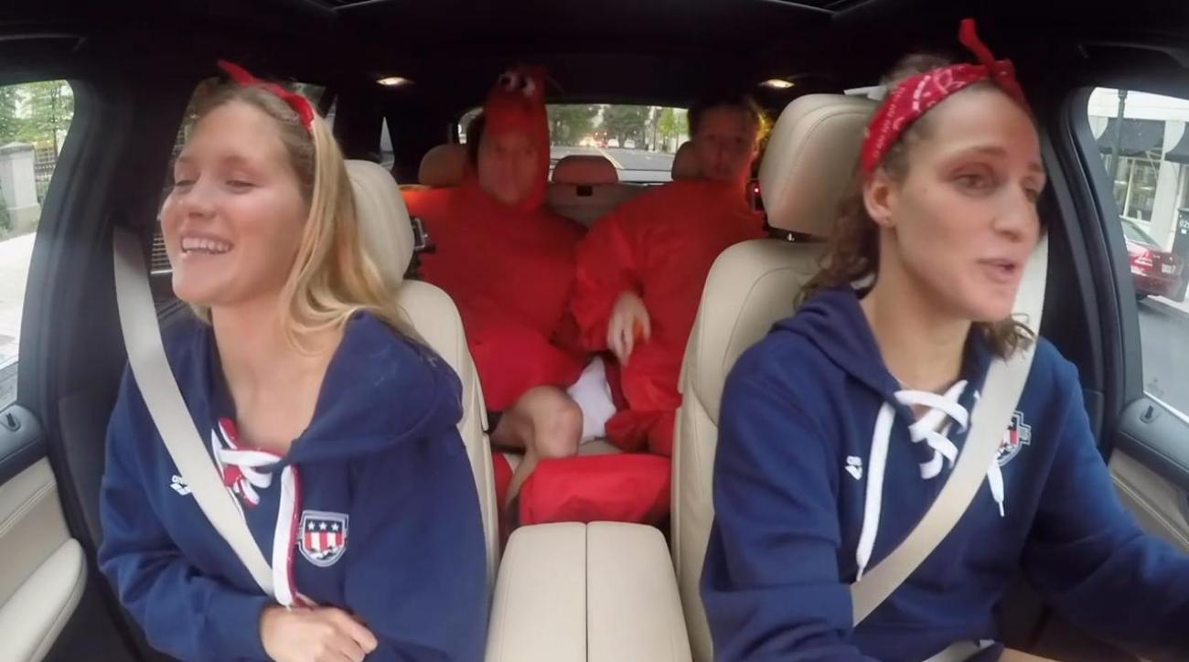 US Olympic Swim Team shows off their karaoke skills