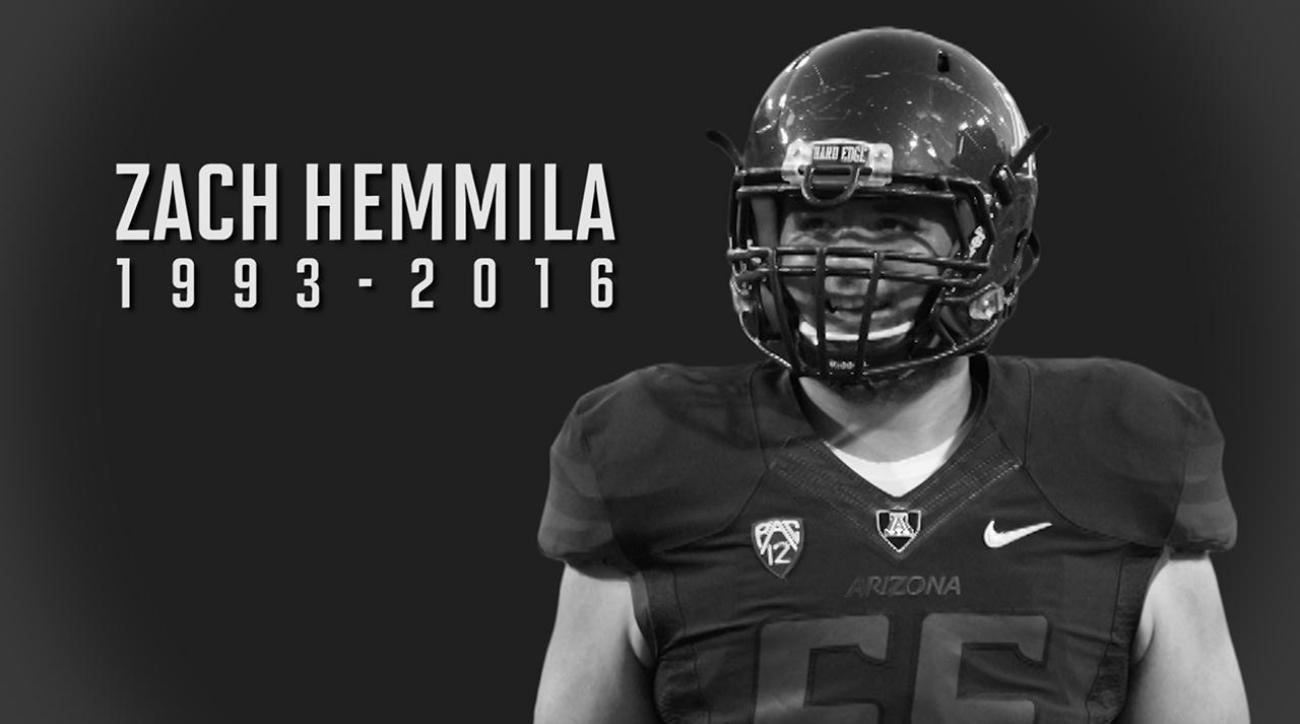 Arizona OL Zach Hemmila passes away in his sleep IMAGE