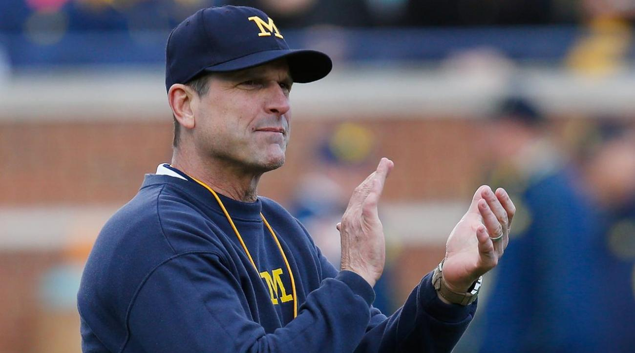 Jim Harbaugh goes around the world to develop players