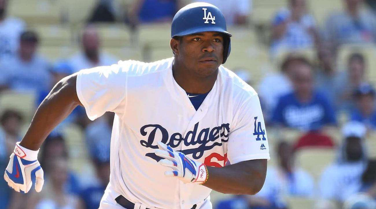 Yasiel Puig bonds with new teammates on snapchat IMAGE