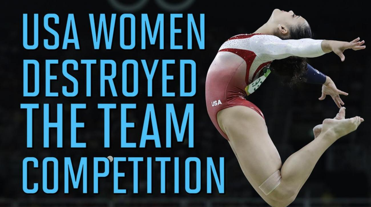 'Final Five' USA Womens Gymnastics Team dominates, win Olympic gold