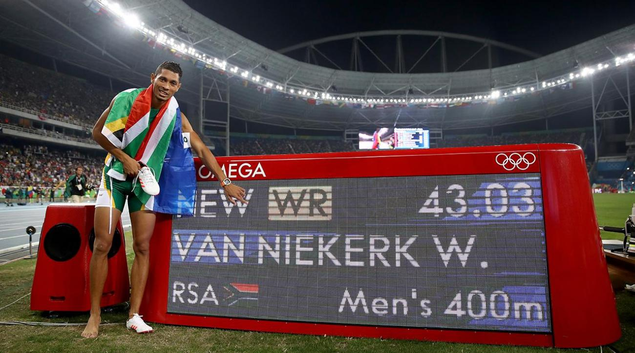 Wayde Van Niekerk sets world record in 400 meter