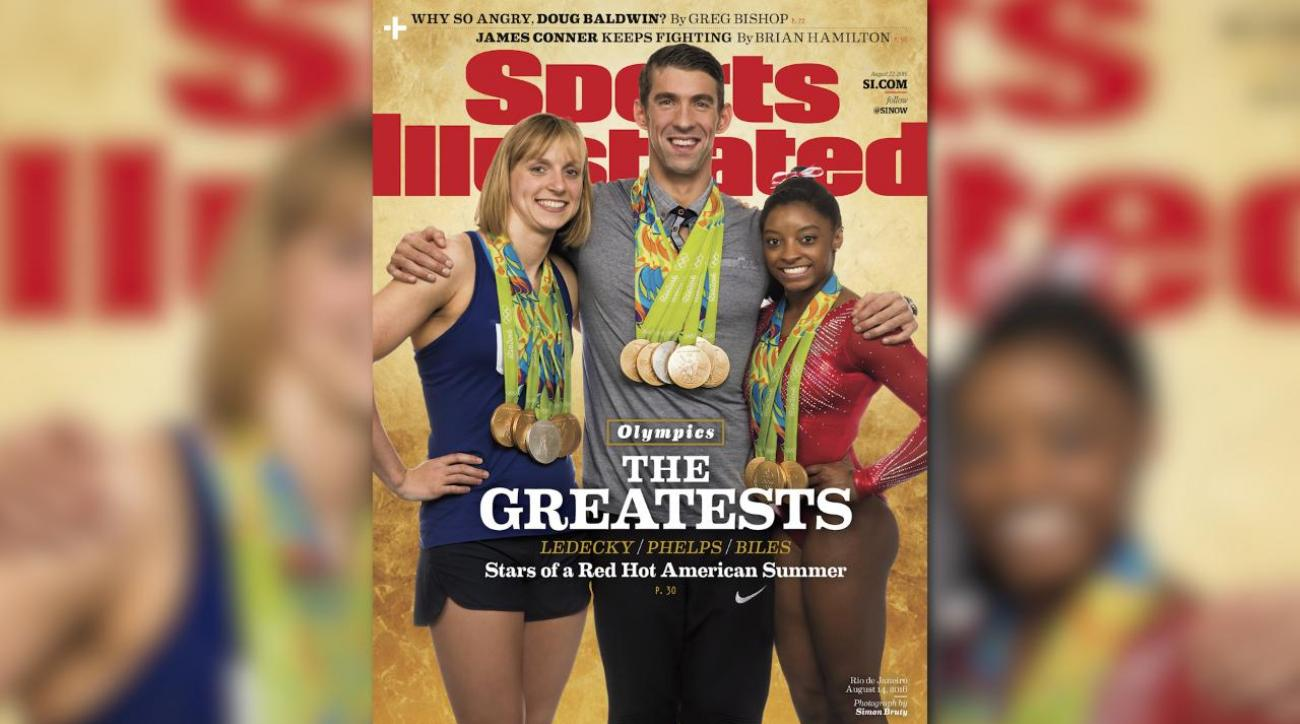 Behind the Scenes: Ledecky, Phelps, and Biles cover shoot