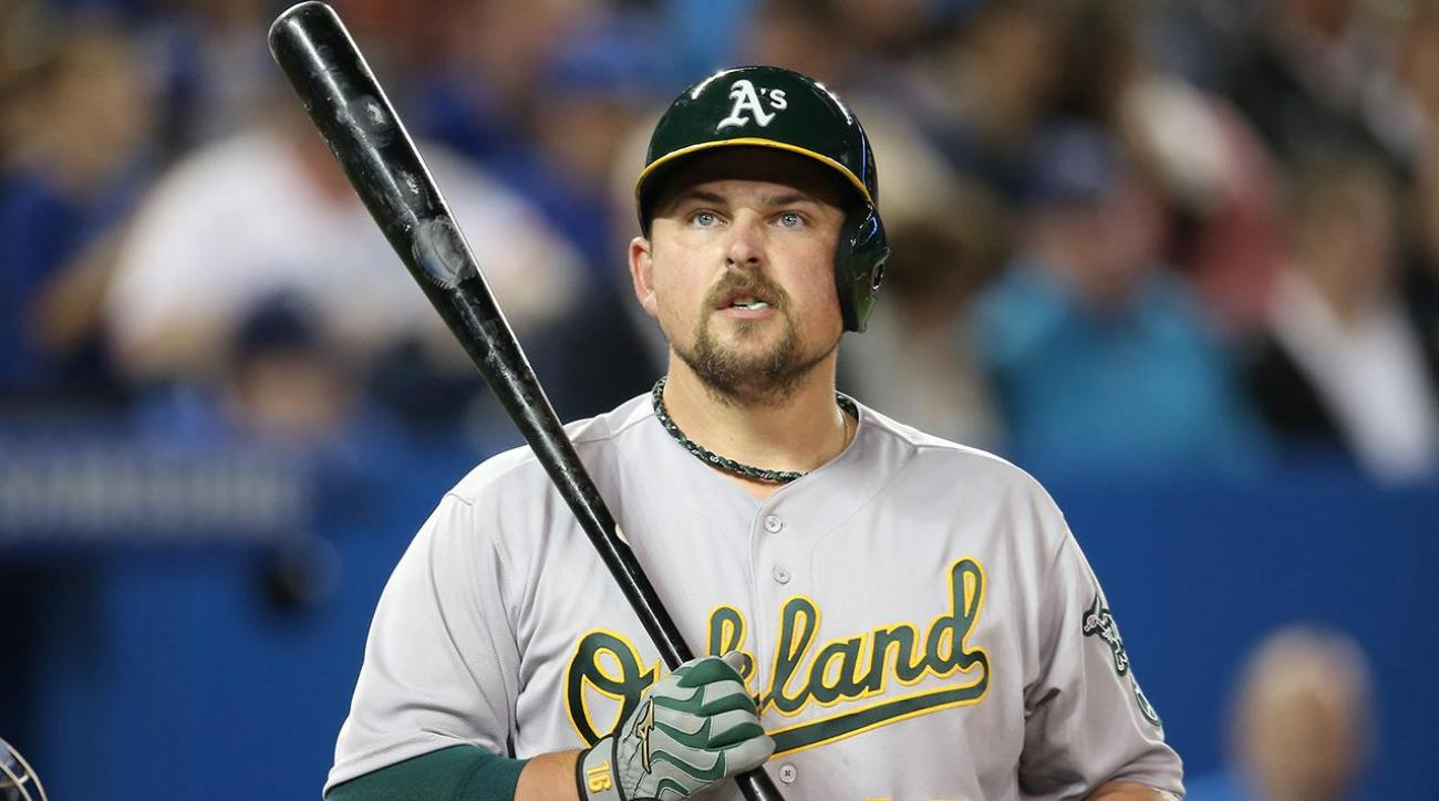 A's DH Billy Butler put on seven-day concussion DL after clubhouse altercation IMAGE