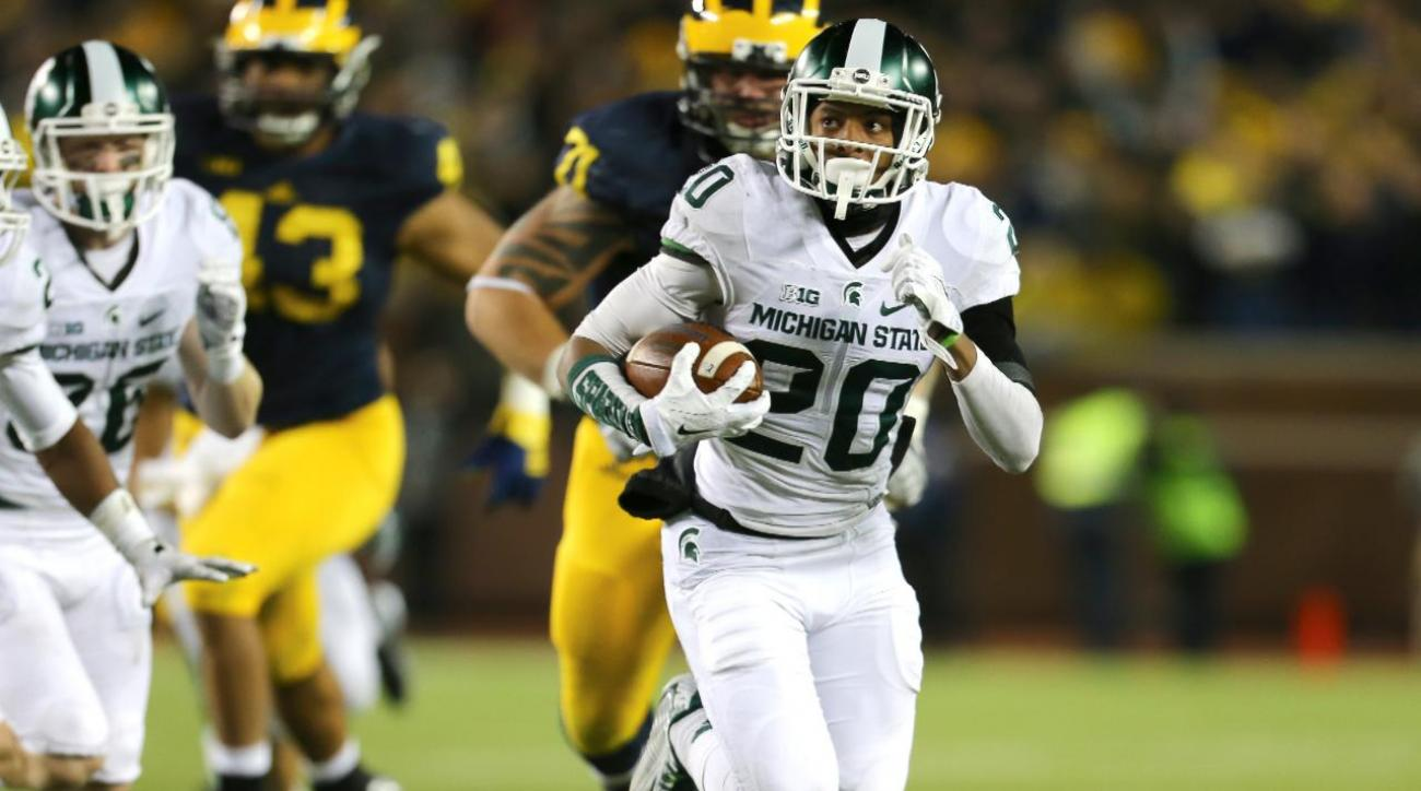 Jalen Watts-Jackson discusses blocked punt return against Michigan