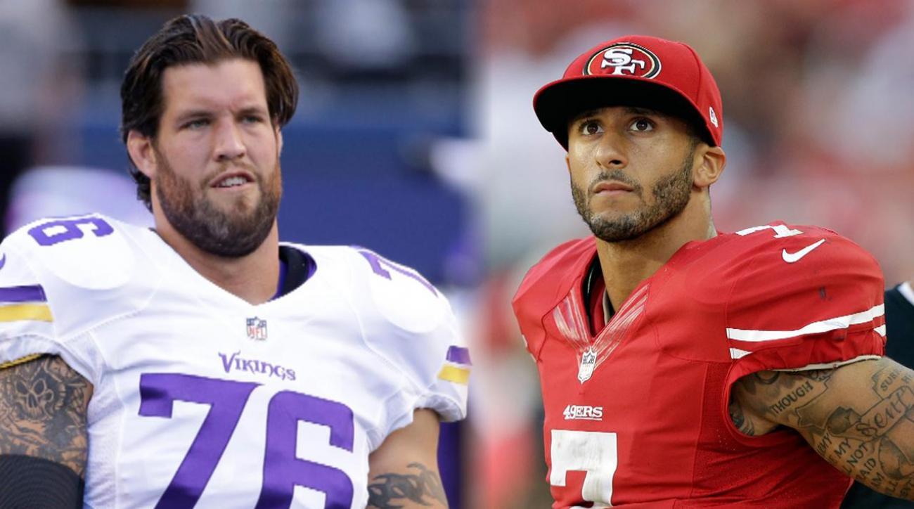 Ex-49er Alex Boone rips Colin Kaepernick over National Anthem stance IMAGE