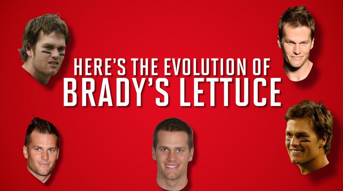 The evolution of Tom Brady's hair